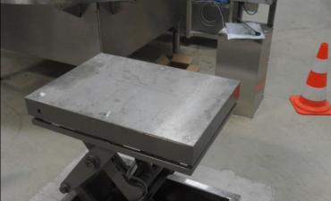 Table élévatrice en fosse tout INOX